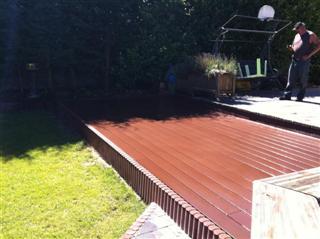 terrasse en bois composite hainaut